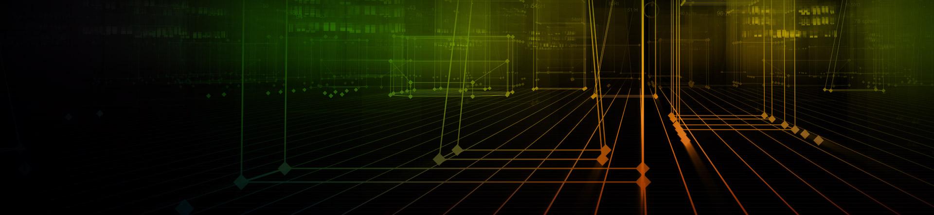 virtual gridded line connection banner
