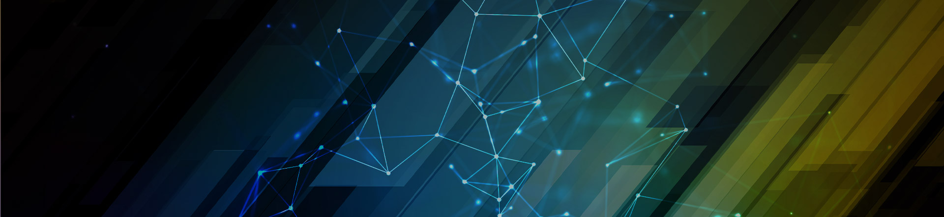 abstract digital lines connected by points banner