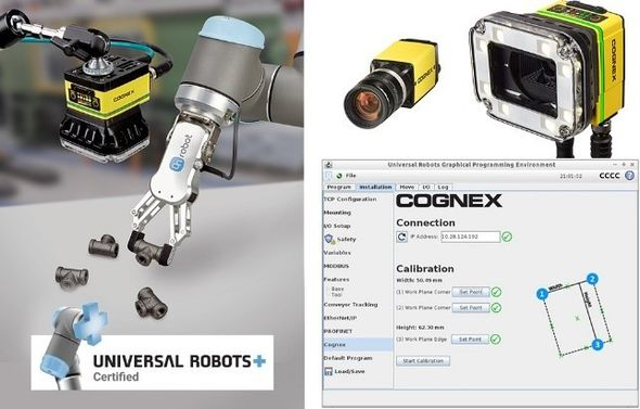 Cognex universal robots connections and programing window