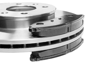 brake pads on rotor