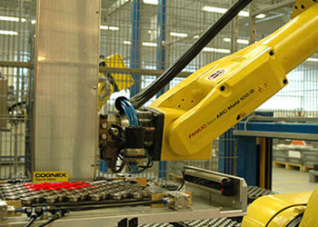 Cognex vision guided robot arm for vehicle brake assembly inspection