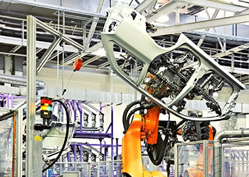 vision guided robotic arm car door assembly and inspection