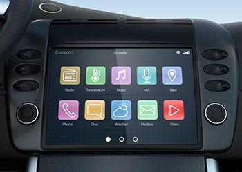 car dashboard touch screen computer