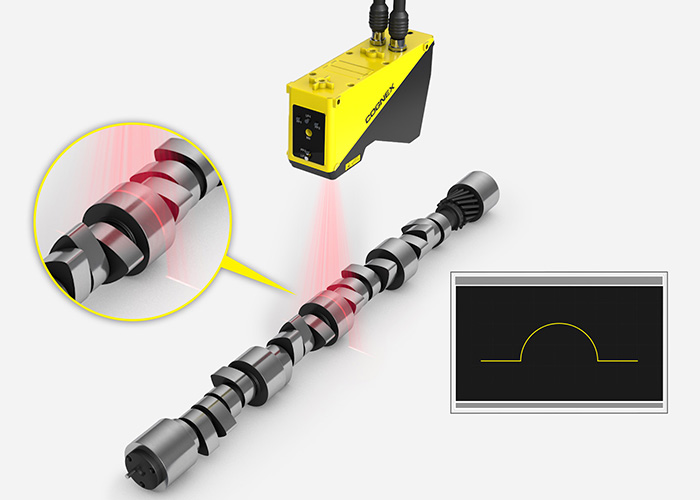 Cognex 3D Laser Profiler Cam shaft nodes