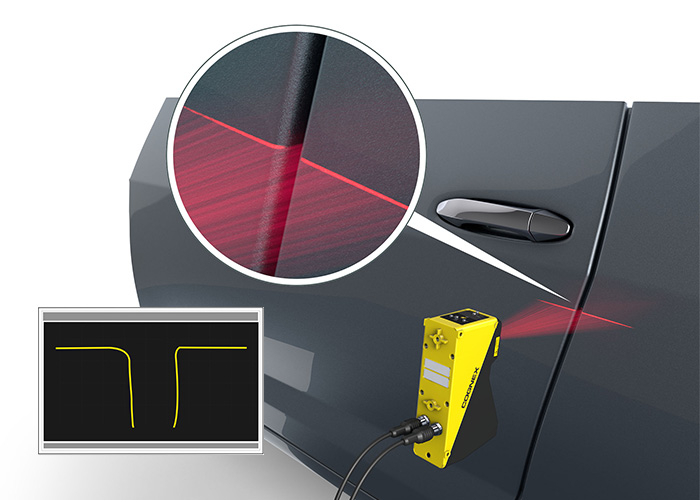 Cognex 3D Laser Profiler Car door Flush and Gap