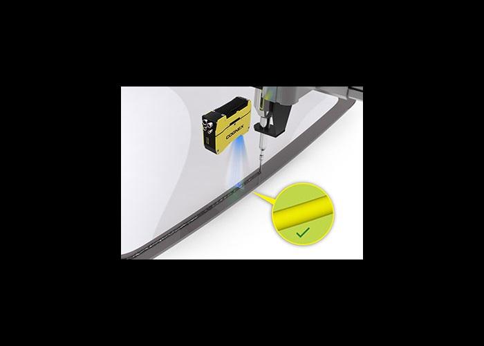 Cognex 3D Laser Profiler automotive sun roof glue bead inspection