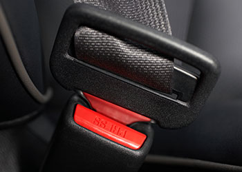 black seat belt and buckle