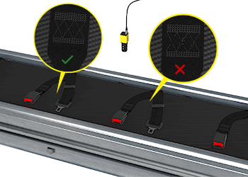 ディープラーニングは、生産ラインで検査されるシートベルトファブリックの縫い目の欠陥を見つけます。