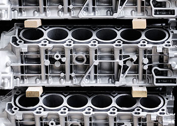 automotive engine block torque converter