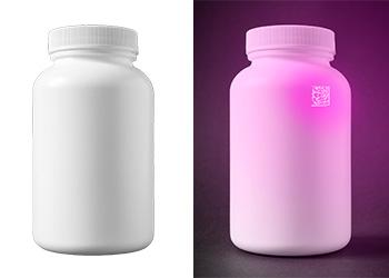 Anti-Counterfeiting UV Data Matrix barcode read by MX1502