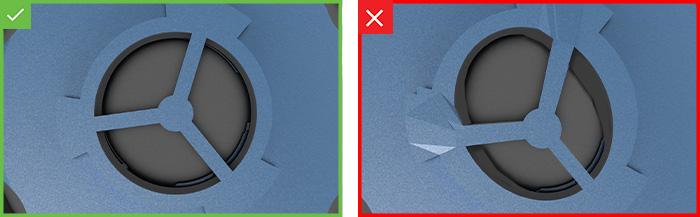 Inspeção automatizada da vedação de borracha - mais exemplos