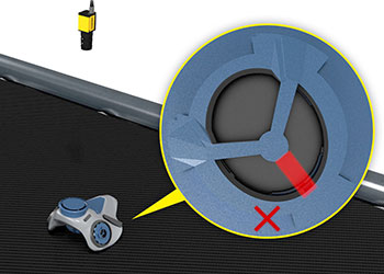 Vision system identifying defect on mask rubber seal