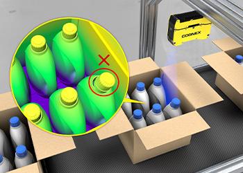 Cap Inspection of detergent using laser profiling