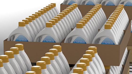 Numerous Consumer Product bottles boxed