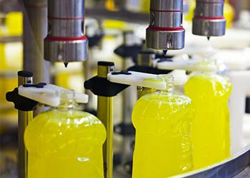 Factory Automation Filling Soap Bottles