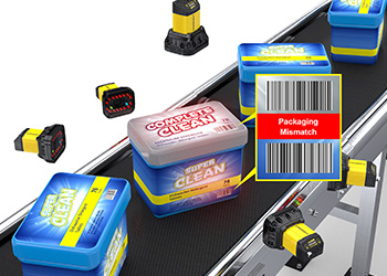 Final Packaging Inspection insight cameras find mismatched packaging to lid