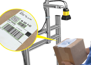 Presentation scanning parcel under mounted dataman 470