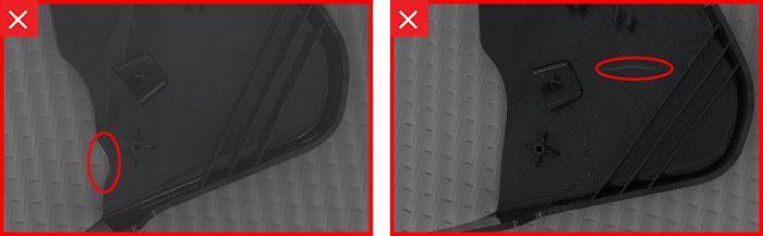 Peça de plástico moldada por injeção - mais exemplos