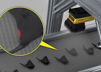 Vision system identifying defect on plastic injection molded part