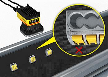 Sistema de visión detectando un defecto en el conector eléctrico