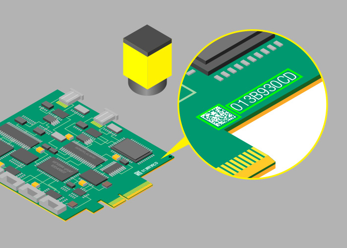 PCB Identification with Cognex qr code reading
