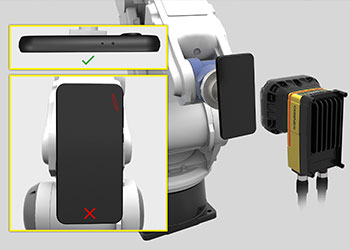 robotic phone presentation for cosmetic defect analysis scratch found