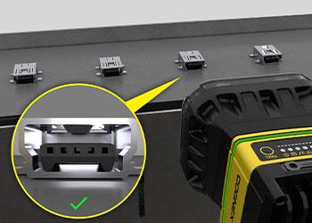 Mini USB connector inspection