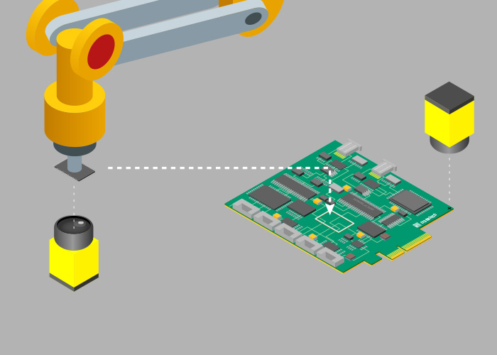 pcb component placement guidance semiconductor manufacturing andcognex robot arm guidance for pcb component placement