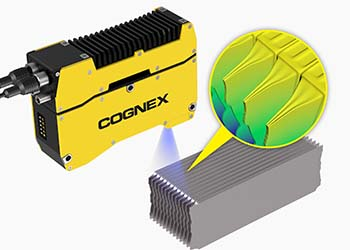 Cognex laser profilers checking Stacking Height Measurement of EV Batteries