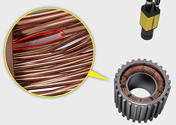 Cognex deep learning ensures winding coils are properly assembled in an electric vehicle motor