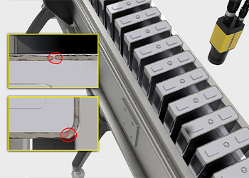 After the top and side panels are welded onto an EV battery, deep learning ensures they have been welded to specification