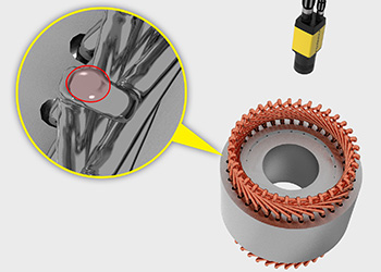 Cognex deep learning inspects the hairpins created from stator winding coils and identifies any potential defects