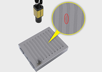 Cognex In-Sight D900 inspects the thermal interface materials on an EV battery cell