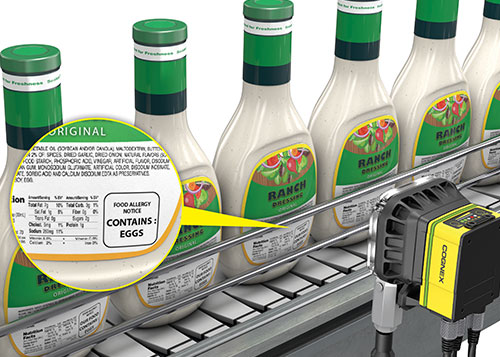 Ranch dressing allergen label inspection using cognex in-sight 7000 series