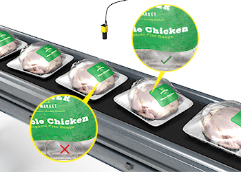 OCR tools with deep learning read challenging text on packaged chickens wrapped in plastic.