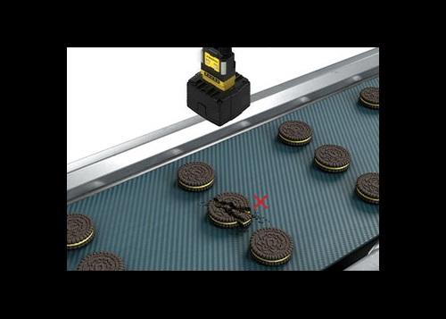 Cognex insight series camera quality inspection cookies conveyor belt