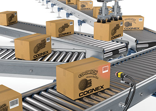 Cognex dataman box packaged food automated sorting conveyor belts