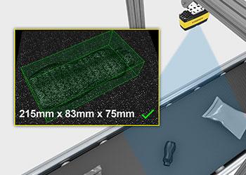 Item verification of dimensions overhead 3da1000