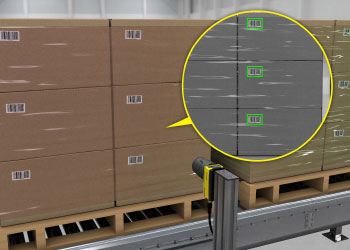 multiple barcode reading on pallets