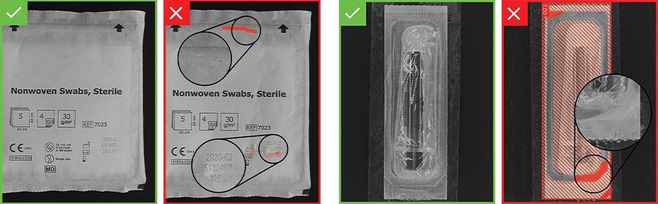 ispezione dell'integrità di sigilli ed etichette