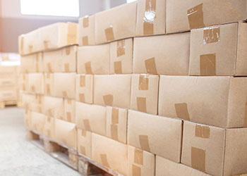 Boxes on pallets
