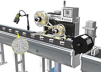 Cognex quality inspection before bundling on conveyor