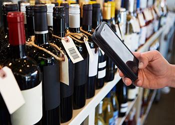Cognex MX100 reading wine bottle labels