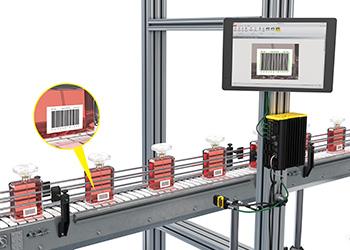 DataMan production line barcode reading on perfume bottles