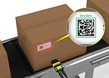 Shipping Case Tracking Dataman 260 scanning parcel label Data Matrix
