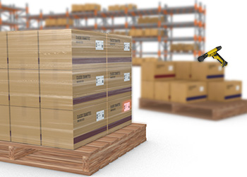 MX-1502 mobile terminal scans codes on pallets on arrival at warehouses