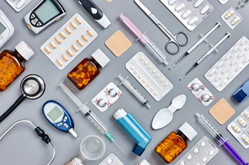 Organized assorted medical items