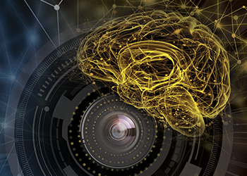 Deep learning brain and cognex camera lens