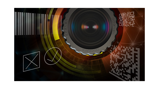 pass fail machine vision lens and barcodes background