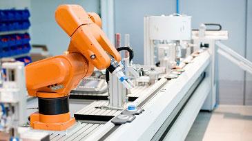 Ein cyber-physikalisches System, angetrieben durch die Bildverarbeitung in Industrie 4.0.